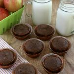 APPLESAUCE MUFFINS -- a hearty muffin perfect for breakfast, lunch boxes, snacks or even a late night snack! Filled with good-for-you ingredients and LESS sugar too!