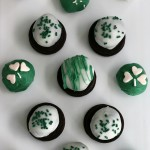Mint Oreo Truffles - ONLY 3 ingredients is all you need for these delicious St. Patrick's Day treats! The kids will have a blast crushing the Oreos, and helping form the balls. Dip in chocolate coating, add sprinkles and you have a fun treat! Pin to your Recipe Board!
